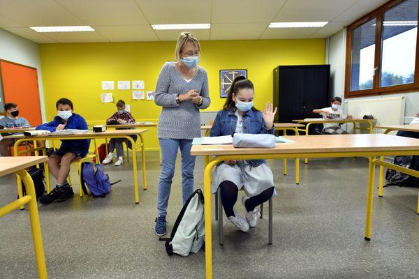 Tous les collégiens du département auront le droit à 2 masques en tissu.