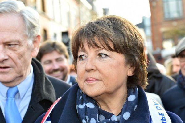 Martine Aubry n'entend pas se présenter à la place de Pierre de Saintignon aux élections régionales en Nord Pas-de-Calais / Picardie