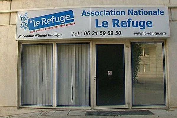 Le siège de l'association Le Refuge à Montpellier. Août 2015.