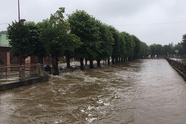 inondations dans l'Orne