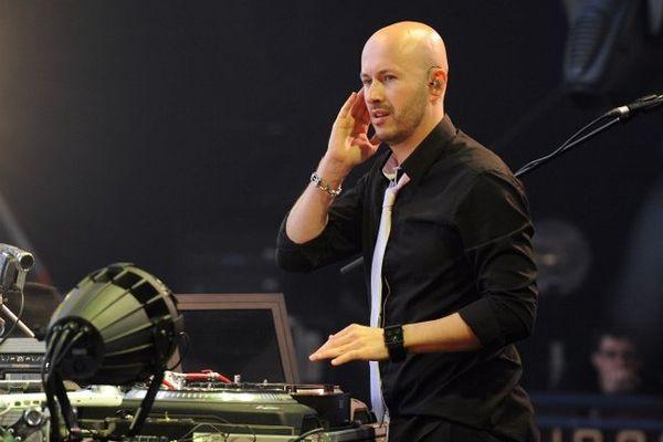 Wax Tailor, alias Jean-Christophe Le Saoût, en concert aux Francofolies de la Rochelle en 2010.