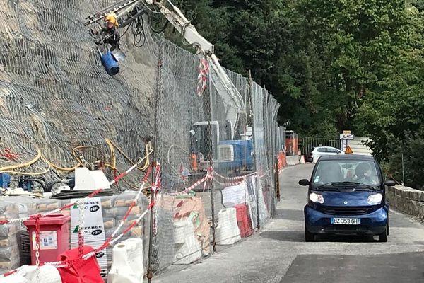 Travaux de sécurisation à hauteur du hameau de Monti.