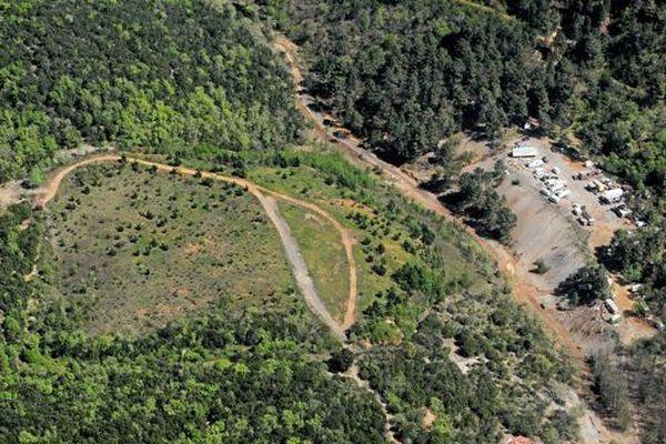 Les mines de Saint-Félix de Pallières, dont l'expoitation s'est arrêtée en 1971.