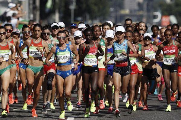 157 athlètes ont pris le départ du marathon de Rio 2016, Christelle Daunay a du abandonner