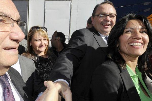 Samia Ghali et Patrick Mennucci en campagne ensemble à La Rose.