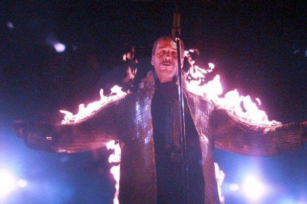 Till Lindemann, chanteur de Rammstein au rock festival de Hultsfred