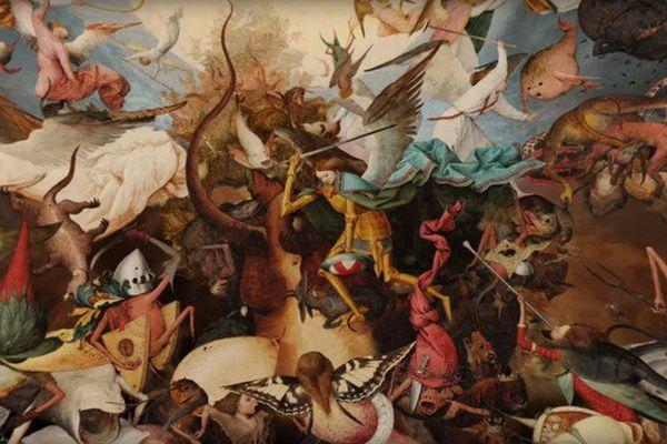 """""""La chute des anges rebelles"""" peint en 1562 par Bruegel l'Ancien fait partie des douze toiles à découvrir dans l'exposition virtuelle consacrée au maître flamand du 16e siècle"""