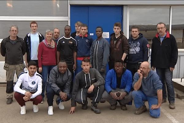 L'équipe de l'école de production ECCOFOR