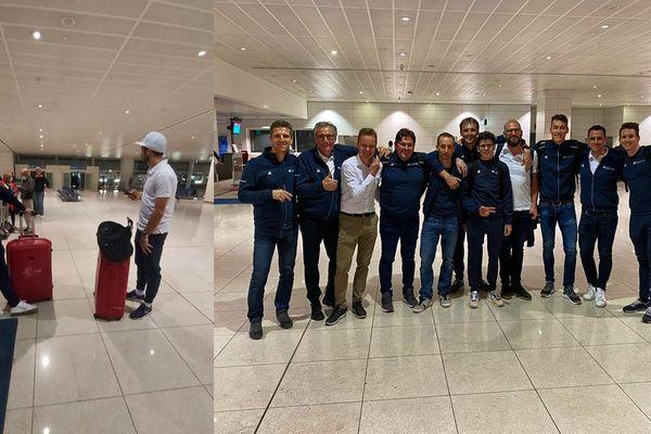 Les équipes Cofidis et Groupama-FDJ ont pu reprendre l'avion ce dimanche.