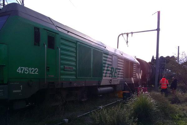 Le réservoir de la locomotive contient plusieurs milliers de litres de fuel. Percé, il aurait pu être à l'origine d'une catastrophe écologique.