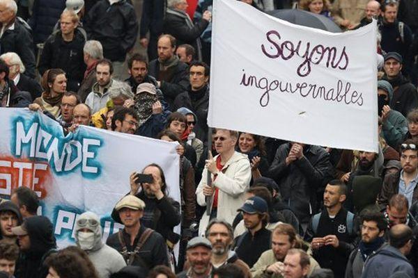 La manifestation contre la loi travail à Paris, le 19 mai.