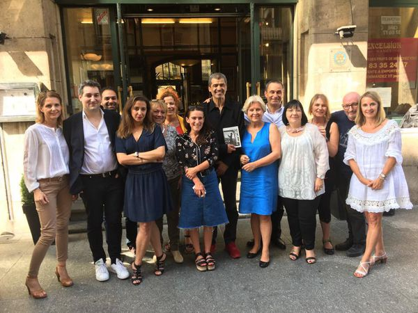 Le jury 2017 autour du président Daniel Picouly accompagné de François Rossinot, mardi 29 août 2017.