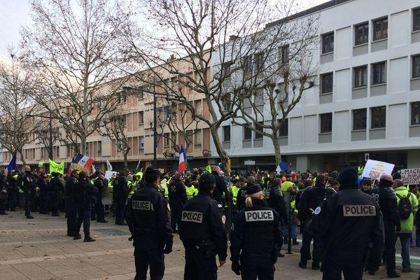 Manifestation de Gilets Jaunes à Valence, dans la Drôme, en décembre 2018.