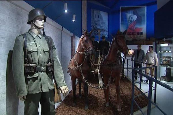 L'attelage allemand du nouveau musée de Quinéville.