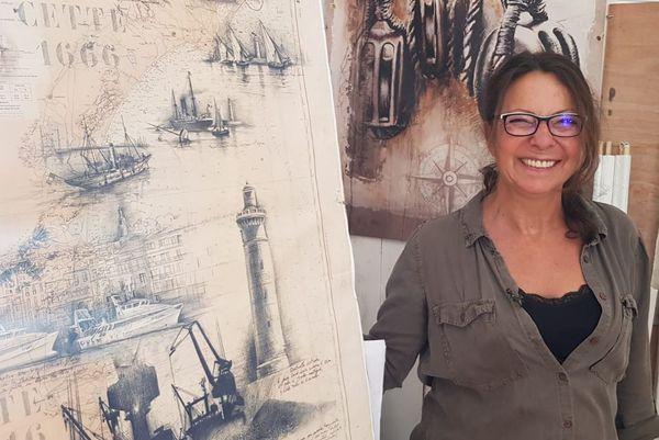 La peintre Vivi Navarro est fascinée par le phare Saint-Louis