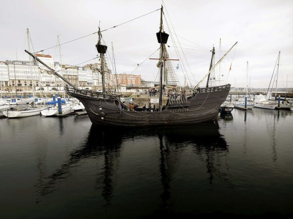En mars 2015 dans le port de La Corogne en Espagne