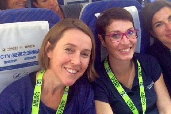 Les fondues bourguignonnes forment l'équipe 21 du Raid de l'Arbre Vert  2014 : Nadine Coat, Anne-Laure Collet et Christine Juhen