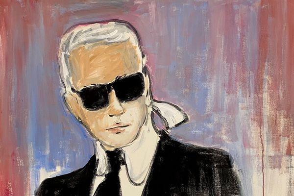 Les enchères pour l'autoportrait de Karl Lagerfeld ont atteint un niveau record
