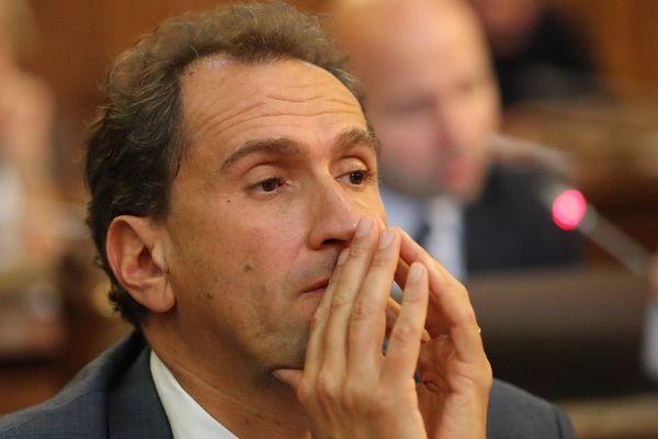 Bordeaux le 09/10/2017 au Conseil municipal de Bordeaux. Vincent Feltesse, conseiller municipal socialiste de Bordeaux. Il a donné sa démission au PS.