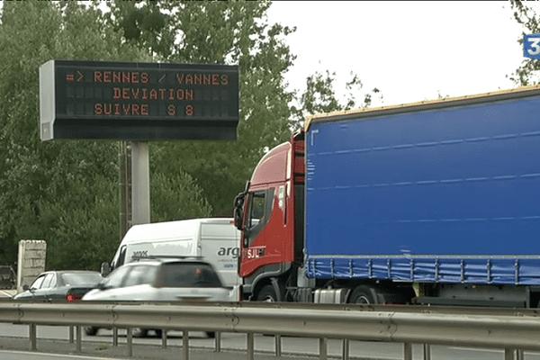 Nantes : le périphérique bloqué en raison de travaux importants et indispensables