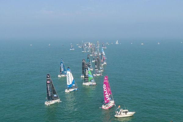C'est à 12h ce dimanche 5 septembre que les 34 skippers de la Solitaire du Figaro se sont élancés de Fécamp pour la 3ème étape de cette 52e édition