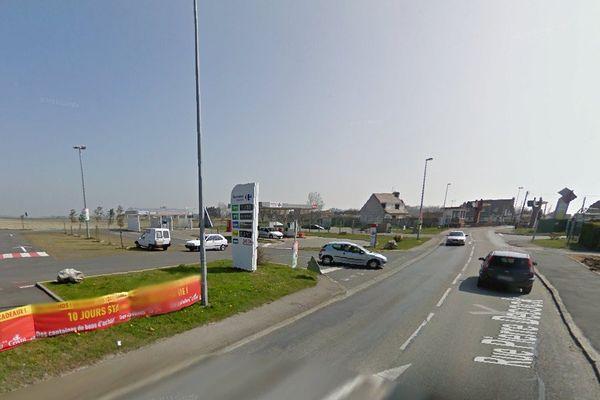Rue Pierre Decocq à Bray-Dunes, où a eu lieu l'accident.