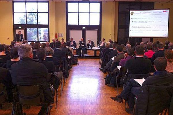 L'assemblée générale du BIVB (bureau interprofessionnel des vins de Bourgogne) se tient au palais des congrès de Beaune lundi 21 décembre 2015.