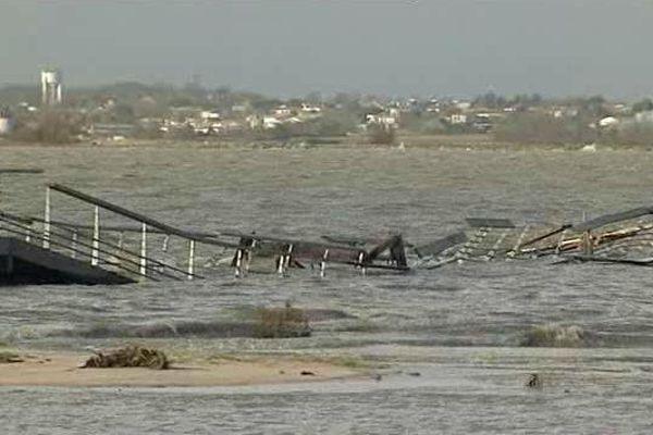 Port-des-Barques, après le passage de la tempête Xynthia en février 2010