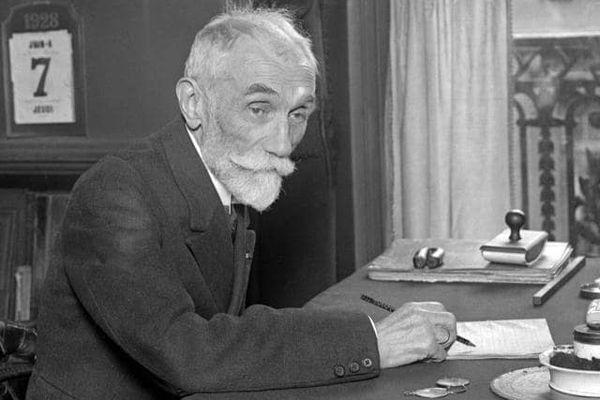Photo datée de 1928 du « père du métro », l'ingénieur Fulgence Bienvenue (1852-1936), qui a dirigé les travaux du métro parisien.