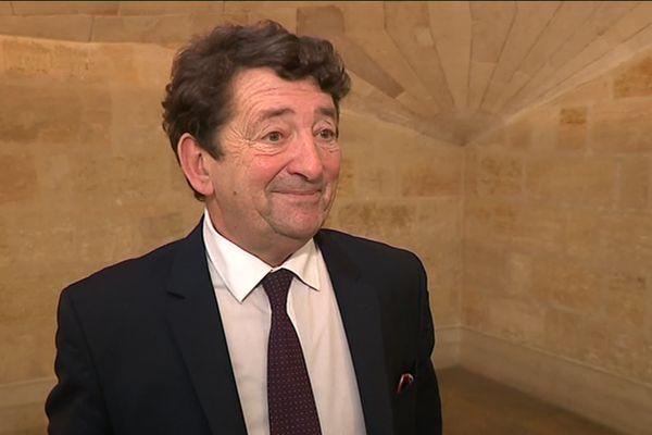 Jean-Louis David dans les couloir de l'hôtel de ville de Bordeaux en décembre 2018.