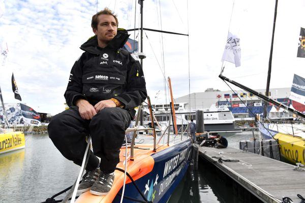 Benjamin Dutreux, lors du Vendée Globe 2020.