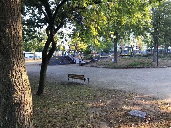 Le square Alain à Rezé où la bagarre se serait déroulée mardi 28 septembre 2021 en début d'après-midi