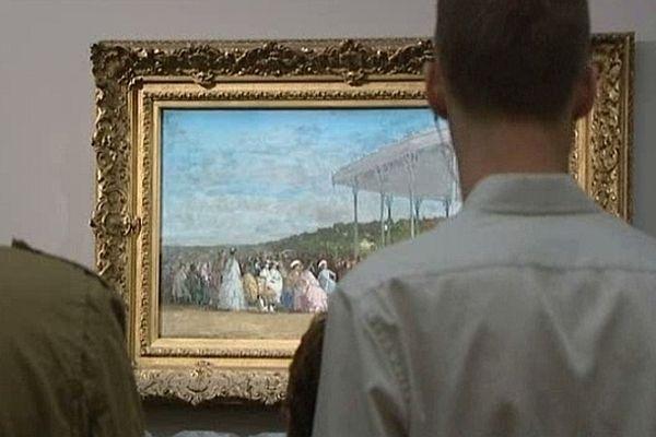 """Devant le """"Concert au Casino de Deauville"""", à l'exposition parisienne Eugène Boudin"""