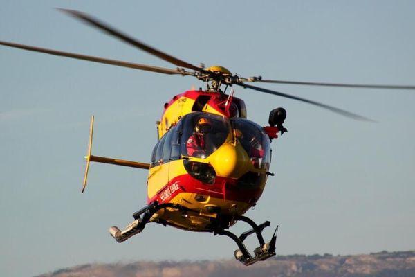 Intervention du SDIS 06 en hélicoptère
