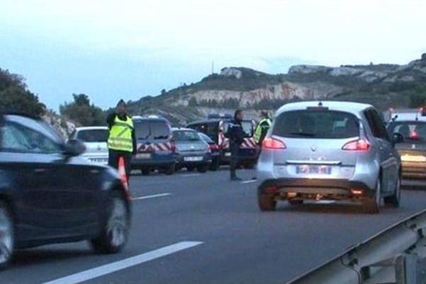 L'homme a été tué alors qu'il conduisait sur la voie de gauche de l'A7 peu avant le péage de Lançon-de-Provence