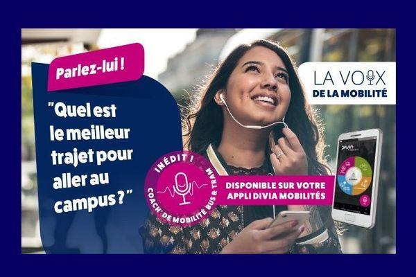 """Le """"coach mobilité"""" est le premier assistant vocal de transports publics en France : il a été lancé à Dijon par l'opérateur Keolis, filiale de la SNCF, qui gère le réseau de bus et tram Divia."""
