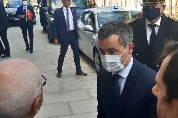 Le ministre de l'Intérieur Gérald Darmanin en déplacement ce samedi à Bayonne