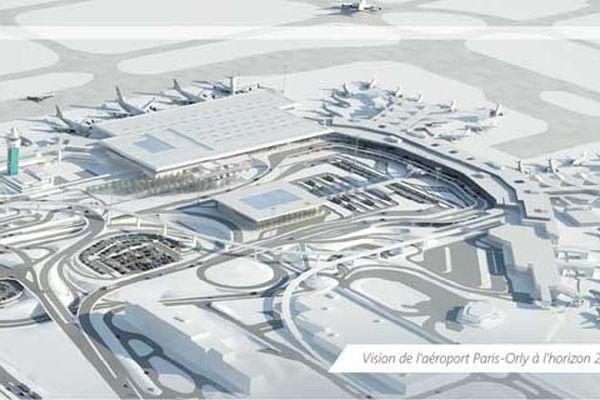 Une vision de l'aeroport d'Orly à l'horizon 2020.