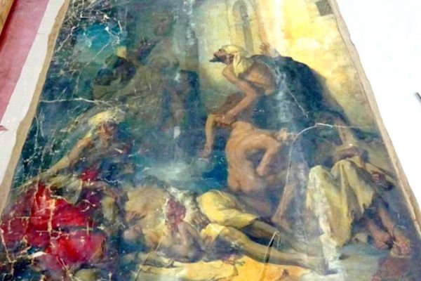 """La famine"" de Gustave Guillaumet."
