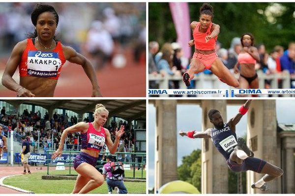 Stella Akakpo, Maëva Contion, Marie Gayot et Kafétien Gomis sont sélectionnés pour les prochains championnats d'Europe d'athlétisme à Amsterdam.