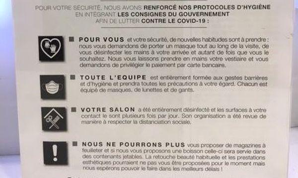 Désormais, de nouvelles règles d'hygiène s'affichent dans les salons de coiffure