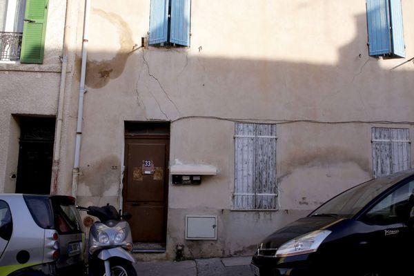 18.12.2018 - Façade du 33, Bd Thumene dans le 14e arrondissement de Marseille au Canet, où se trouvait une école primaire musulmane clandestine, selon la justice.
