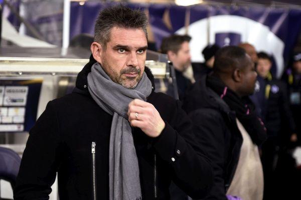 Bordeaux le 23/09/2017 : Entraîneur des Girondins de Bordeaux à l'époque, Jocelyn Gourvennec recevait Guingamp au stade Matmut Atlantique René Gallice.