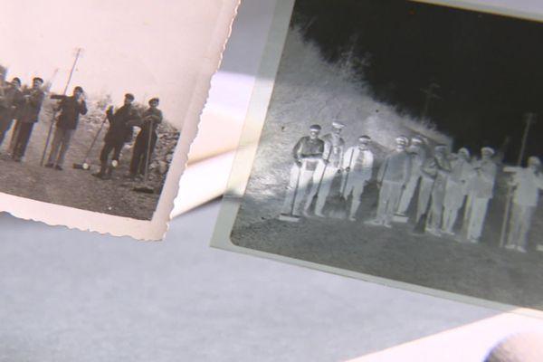 A gauche le tirage déjà détenu par les Archives de l'Ain. A droite, le négatif retrouvé dans la valise découverte abandonnée à Lyon - mars 2021