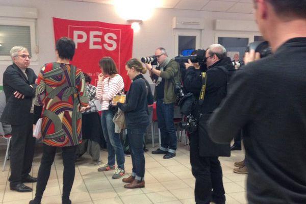 Jean-Pierre Masseret devant les journalistes le 6 décembre 2015