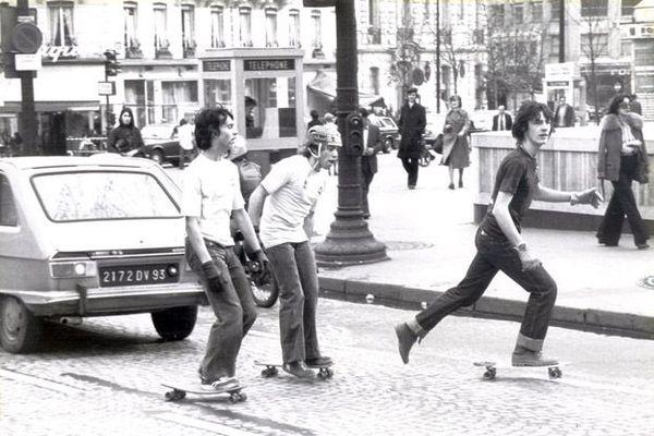 Thierry Dupin sur les Champs-Elysées, en 1977.