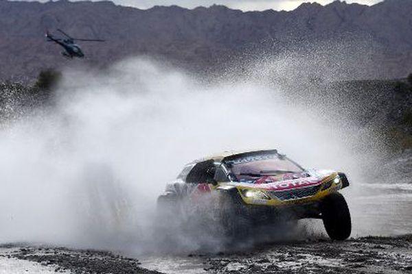 Stéphane Peterhansel sur la 12e étape du Dakar, jeudi 18 janvier 2018.
