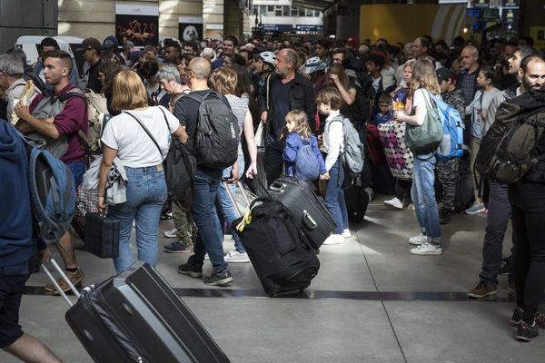 La panne a été trouvée gare Montparnasse, le trafic reste cependant perturbée ce 1er août 2017 (ici mai 2017)