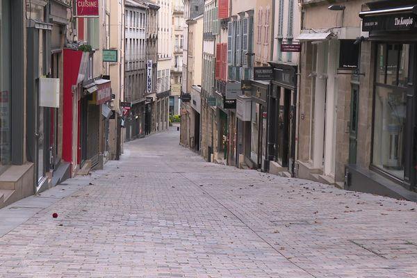 Au printemps 2020, rues désertes à Limoges pendant le confinement.