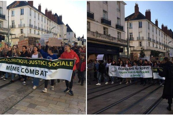 20/09/2019. Les jeunes défilent pour le climat à Tours.